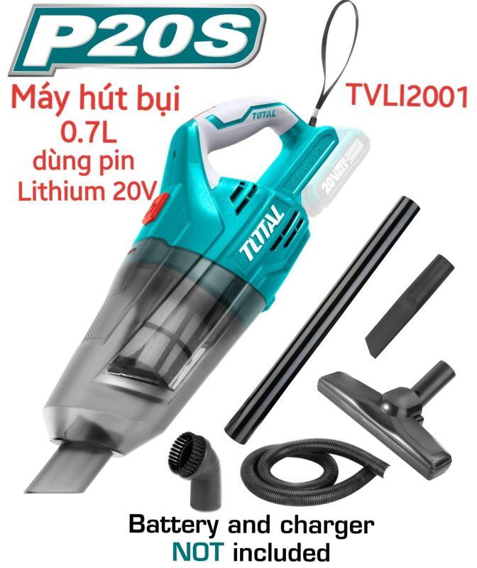 Máy hút bụi dùng pin Lithium 20V TOTAL TVLI2001 KHÔNG KÈM PIN VÀ SẠC