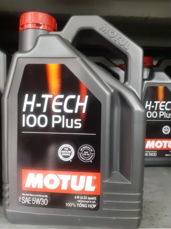 [Nhớt Tổng Hợp Ô Tô ] Motul H-Tech 100 Plus SAE 5w30 4l  API SN 4L