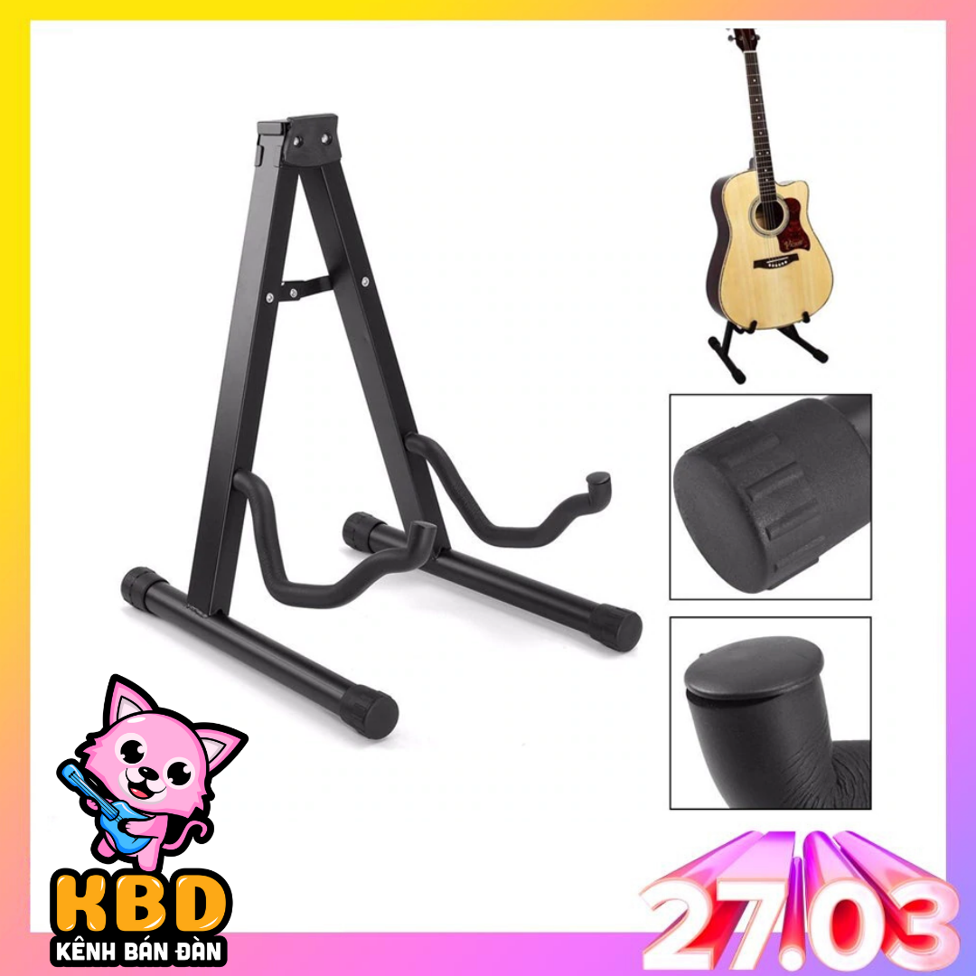 Mã Coupon [VẬN CHUYỂN 0Đ] Giá để Đàn Guitar AT-14 - Hãng Phân Phối Bởi KBD (Chân đỡ Chữ A Cho Ghi-ta Acoustic, Classic, Điện, Electric Stand - Dạng Thẳng)