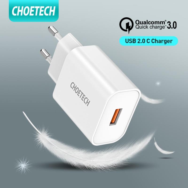 Giá CHOETECH củ sạc nhanh cục sạc dự phòng 18W MIRCO USB Wall Charger Quick Charge 3.0 Fast Charger