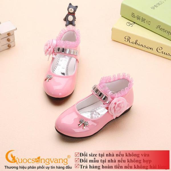 Giá bán Giày đính đá bé gái giày bé gái thêu ren GLG066
