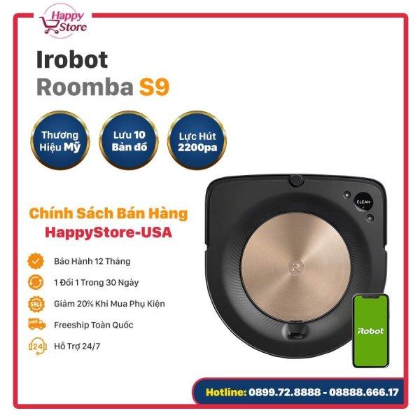ROBOT HÚT BỤI IROBOT ROOMBA S9 - Hàng chính hãng nhập Mỹ
