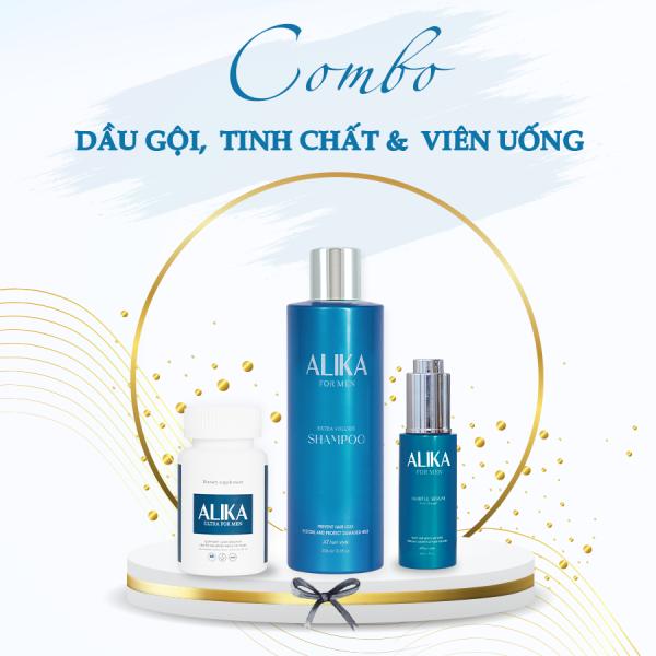[HIỆU QUẢ 100%] Bộ 3 sản phẩm ngăn ngừa rụng  và kích thích mọc tóc ALIKA chuyên biệt dành riêng cho Nam - Tóc mọc nhanh chắc khoẻ vượt trội - Công nghệ đột phá đến từ Thuỵ Sỹ