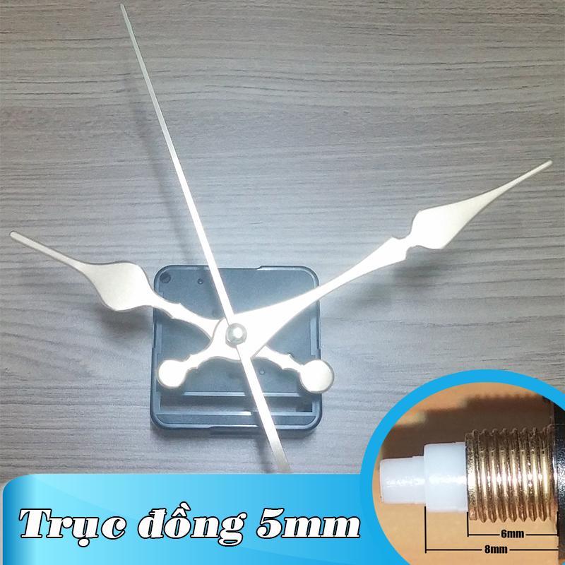 Nơi bán Kim giật - Bộ kim vàng 12cm và Máy đồng hồ treo tường Đài Loan loại tốt - Trục 5mm