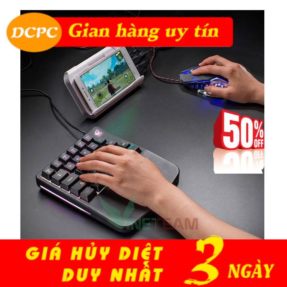 Bàn Phím Chơi Game, Bàn phím bán giả cơ một tay FREE WOLF K11 với 28 phím, Bàn Phím Máy Tính, Bàn phím chơi Pubg, liên quân, bàn phím chơi game mobile