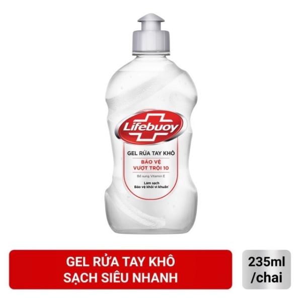 gel rửa tay khô lifebouy chai 235ml cao cấp