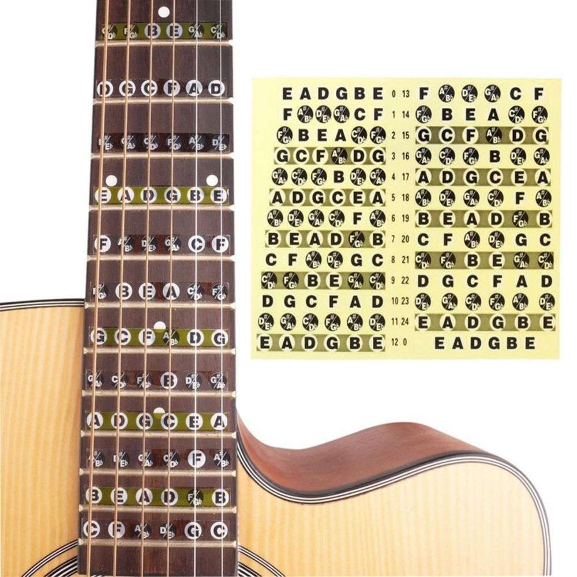 Offer Giảm Giá GUITAR Note Sticker - MIẾNG DÁN ĐÁNH DẤU VỊ TRÍ NỐT NHẠC TRÊN ĐÀN GUITAR NOTE Decal