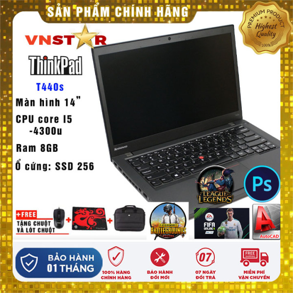 Bảng giá Laptop Lenovo ThinkPad T440s i5-4300U   Ram 8GB   SSD 256Gb 14   FHD - Nhập khẩu USA Phong Vũ