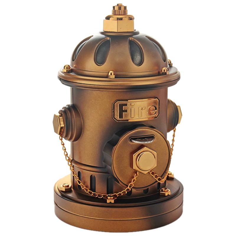 Piggy Bank Rotating Girl Fire Hydrant Creative Coin Bank Saving Pot Desktop Decor for Home Living Room