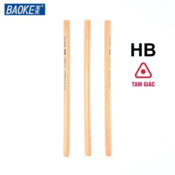 Mua Combo 10 bút chì gỗ tam giác không sơn Baoke - PL1682, sản phẩm chất lượng cao và được kiểm tra kỹ trước khi giao hàng