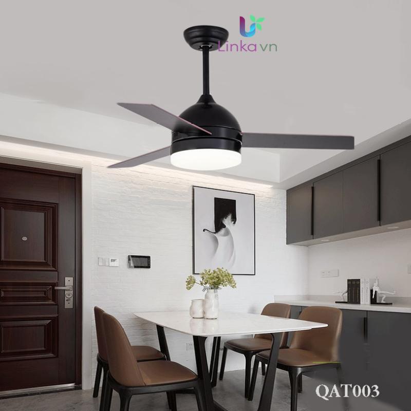 Quạt trần trang trí đa năng, quạt trần trang trí 3 cánh, quạt trần đèn LINKA LI-QAT003 – Thiết kế đơn giản mà sang trọng