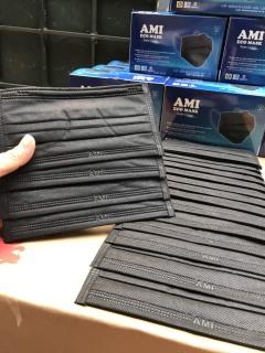 Khẩu trang Y Tế Ami hộp 50 chiếc 4 lớp kháng khuẩn màu Xanh, dập LOGO, thơm mùi đặc trưng vải không dệt thumbnail