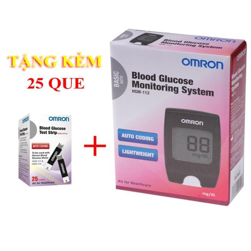 Nơi bán Máy đo đường huyết Omron HGM-112 Tặng 25 Que thử
