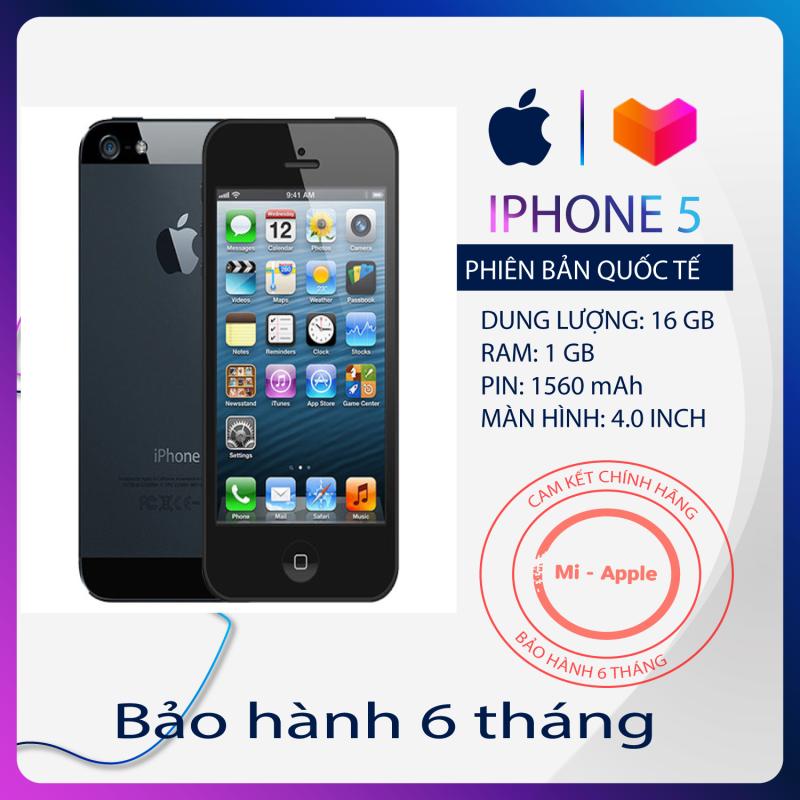 Điện thoại iPhone 5 Quốc tế giá rẻ chiến game nặng bảo hành 6 tháng 1 đổi 1 trong 30 ngày Tặng cáp sạc
