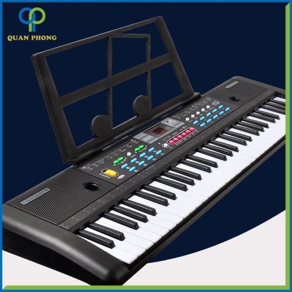 Đàn Điện Tử Piano 61 Phím Loại To Kèm Mic Cho Cho Bé