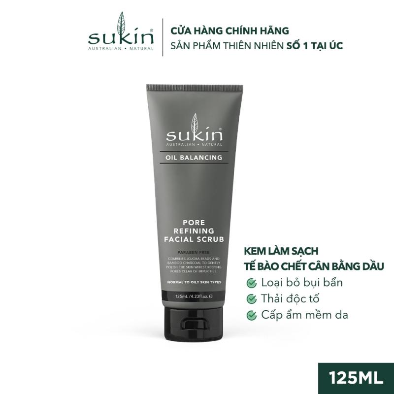 Kem Làm Sạch Tế Bào Chết Cân Bằng Dầu Sukin Oil Balancing Pore Refining Facial Scrub 125ml giá rẻ