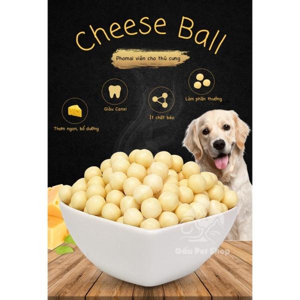 Cheese Ball - Phomai Viên Cao Cấp Cho Thú Cưng  Gói 100gr