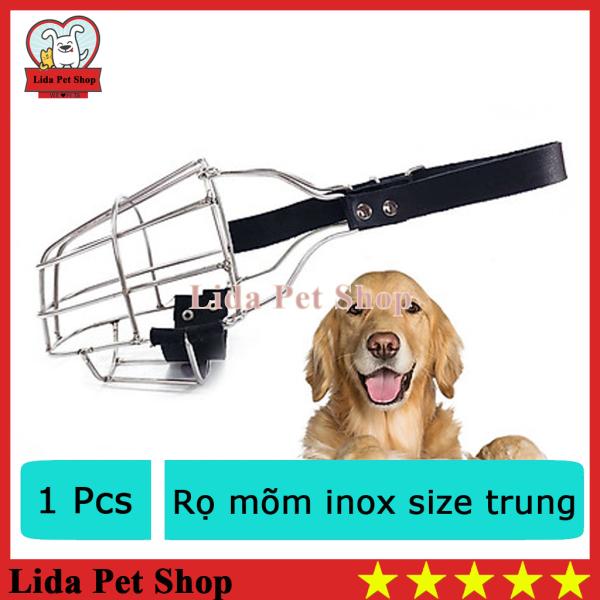 HN- Rọ mõm cho chó  -Rọ mõm inox  KHÔNG GỈ chó to 20-33kg (size trung)  375e-HP10475TC