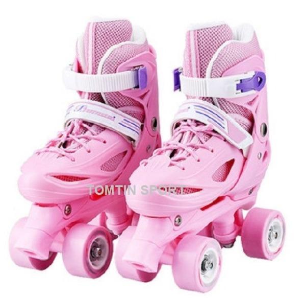 Mua Giày trượt patin trẻ em tặng kèm bảo hộ chân tay, patin 2 hàng bánh có màu cho bé trai và bé gái đi được ngay không sợ ngã [TOMTIN SPORT]