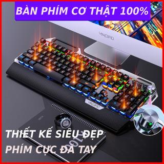 Bàn Phím Cơ Gaming K100 Super Pro Led Đổi Màu 12 Chế Độ Led Khác Nhau, Ngang Phím Cơ Máy Tính, PC, Laptop, Dành Cho Game Thủ Cao Cấp, Chơi PUBG, Liên Minh, Đột Kích Cực Đã thumbnail