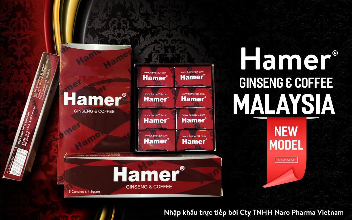 Kẹo sâm Hamer Malaysia hộp 5 viên nhập khẩu
