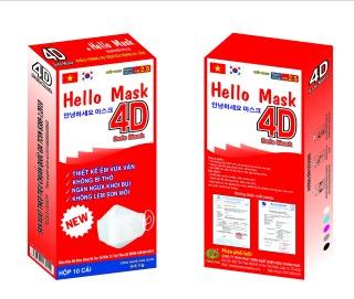 Bộ 10 khẩu trang vải kháng khuẩn Hello Mask 4D- 4lớp vải kháng khuẩn -công nghệ Hàn Quốc thumbnail
