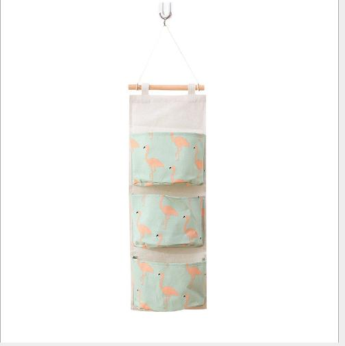 Túi vải treo tường 3 ngăn