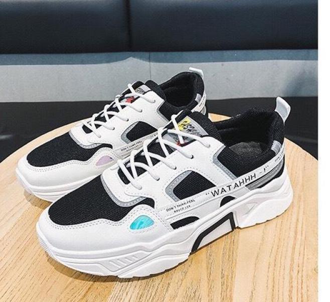 Giày sneaker nam tăng chiều cao 5cm Phản Quang cực kì ngầu - Sudoo, giày nam sneaker phong cách đường phố, đế tổng hợp siêu êm giá rẻ