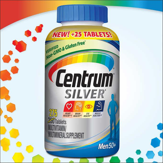 Centrum Silver MultiVitamin MultiMineral Complete Vitamin 275 Tabs Men Over50+