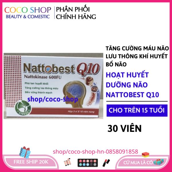 Hoạt huyết nattosbest q10 giảm đau đầu, hoa mắt, chóng mặt, rối loạn tiền đình - Hộp 30 viên tăng tuần hoàn máu não