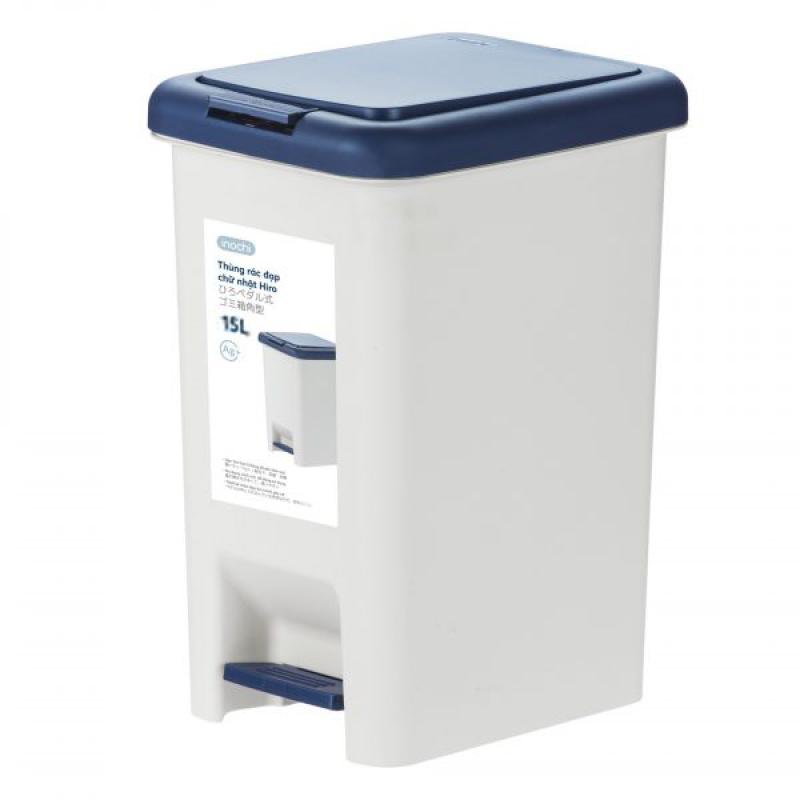 Thùng rác chân đạp Hiro 15L, 10L hàng xuất Nhật Bản công nghệ Ag+ kháng khuẩn khử mùi