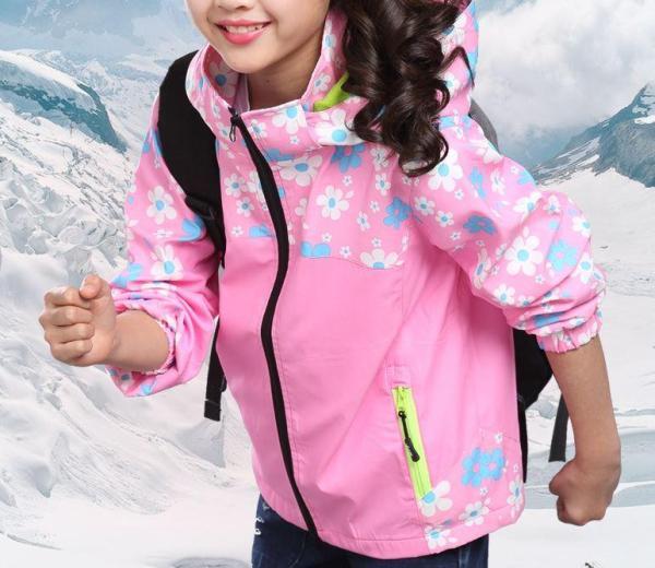 Giá bán Áo khoác bé gái hình bông hoa dễ thương - nhiều size từ 12kg đến 40kg