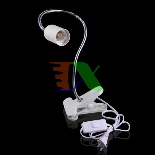 Chân đèn để bàn kẹp TCD-E27.44 cm, Chân đèn led đui xoáy, Chân đèn bàn học sinh, Đui đèn kẹp Kèm Phích cắm Dây Công tắc