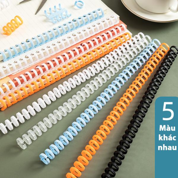 Thanh còng nhựa Binder Tuệ Minh đường kính 12mm kẹp sổ, dùng cho nhiều mọi khổ giấy a4,a5,b5..refill thay giấy dễ dàng