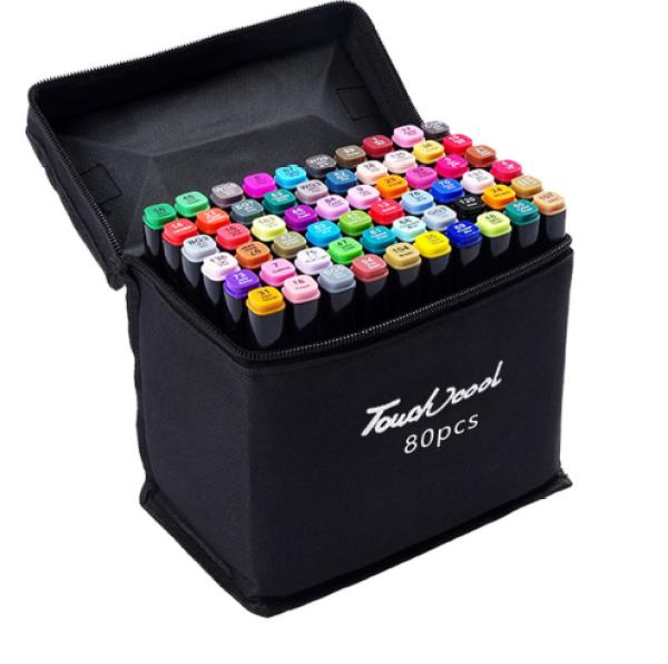 Mua Bút Marker Touch Cool Túi Vải 30/40/60/80 Màu Chuyên Nghiệp - 80 Màu