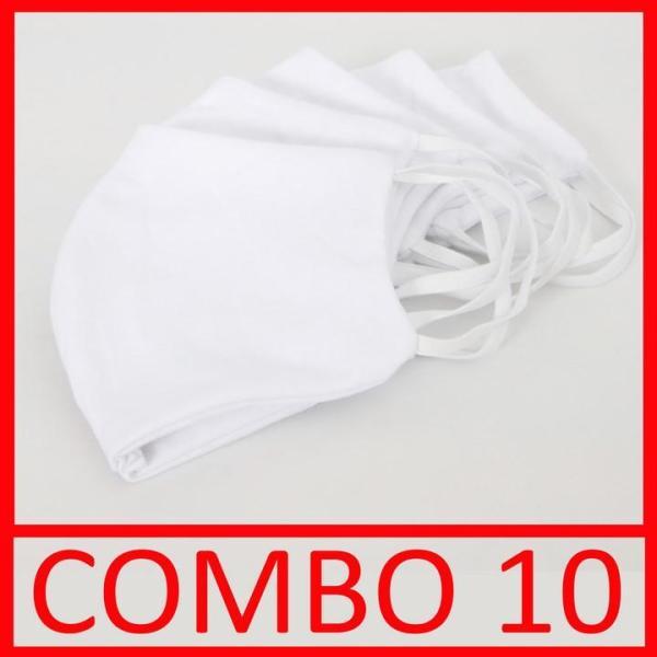 Combo 10 khẩu trang vải lọc khuẩn 2 lớp vải dày dặn có thể tái sử dụng