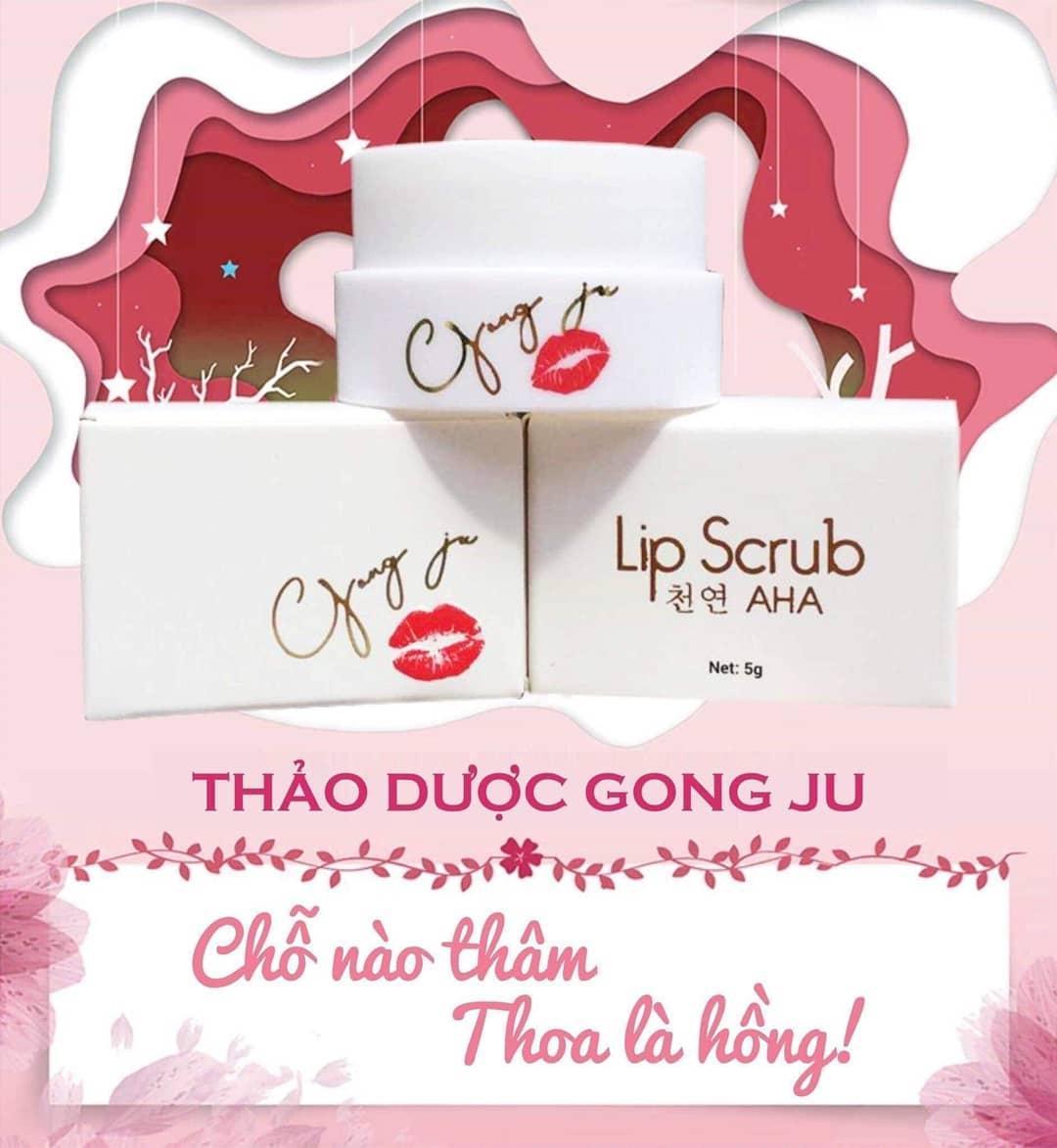 Ủ trị thâm môi hồng nhũ hoa Lip Scrub AHA – Hàn quốc tốt nhất