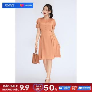 Đầm váy nữ ngắn tay xếp ly DEA0768 92WEAR thumbnail