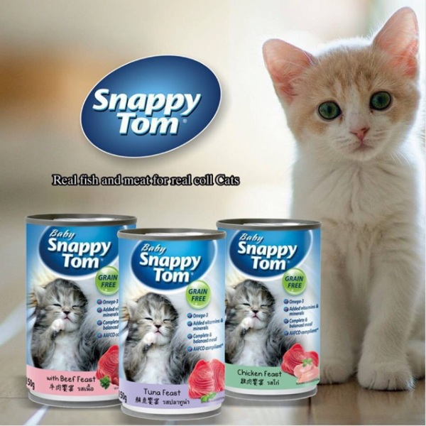 Pate mèo con Snappy Tom 150g