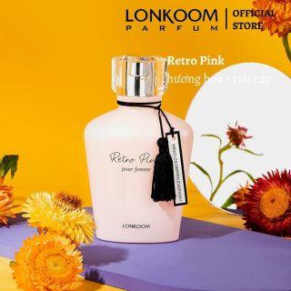 LONKOOM Retro Hồng 100ml nước hoa cho phụ nữ hương hoa và trái cây thumbnail