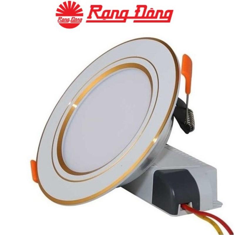 Đèn LED Downlight âm trần đổi màu 7W Rạng Đông AT10 ĐM 90/7W, Viền mạ vàng/bạc tinh tế