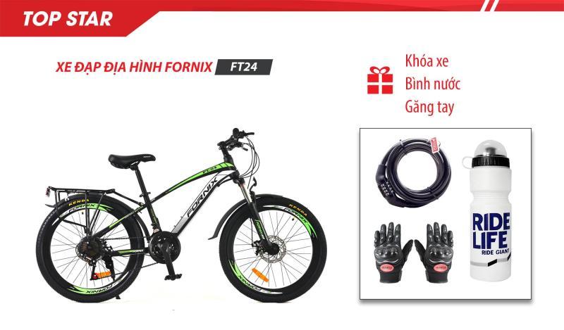 Mua Xe đạp địa hình thể thao FT24- vòng bánh 24- Bảo hành 12 tháng + (gift) Găng tay, Bình nước, Khóa xe cao cấp