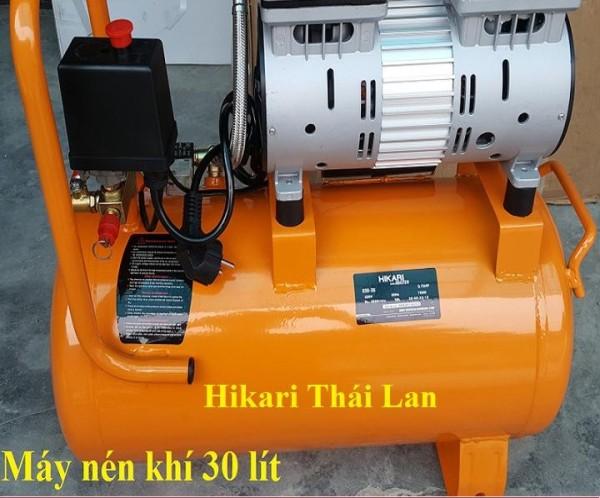 Máy nén khí không dầu, nén khí sạch Hikari 06-30 made in Thái lan,30 lít, loại 550W tương đương 0.75 HP.