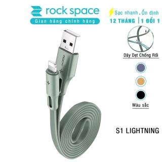 [HCM]Cáp sạc nhanh iphone Rockspace S1 không nóng máy dây dẹt độ dài 1m - chính hãng bảo hành 12 tháng thumbnail