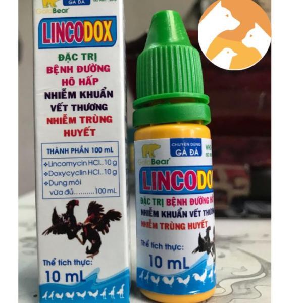 LINCODOX [10 ml] Thuốc chuyên gà đá về bệnh đường hô hấp, nhiễm khuẩn vết thương, nhiễm trùng huyết