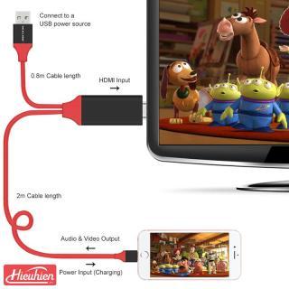 Cáp HDMI cho Iphone Dây kết nối ti vi với điện thoại iphone ipad dài 2M cáp kết nối điện thoại với tivi Dũng Dũng 1 thumbnail