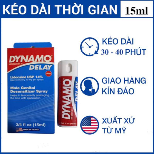 Chai xịt Delay Dinamo 15ml, Kéo dài thời gian quan hệ giá rẻ