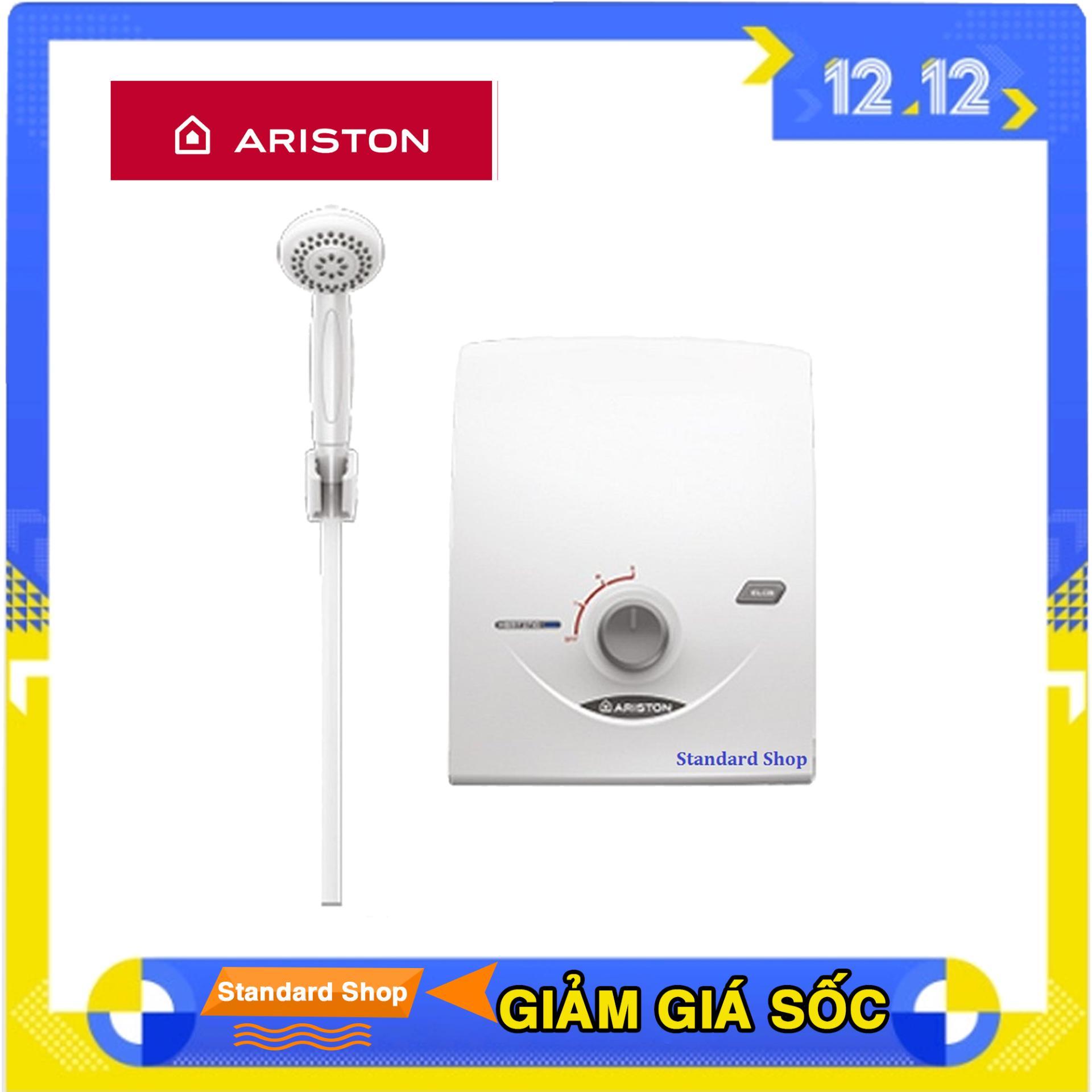 Bình nước nóng chống giật trực tiếp không bơm Ariston SB35E-VN trắng chất lượng cao