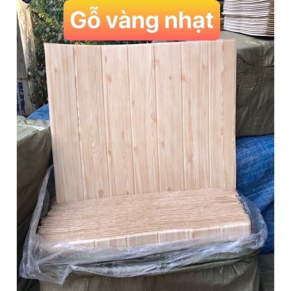 Xốp dán tường giả gỗ 3d kt 70 x70cm 5mm vàng nhạt sang trọng, cam kết hàng đúng mô tả, chất lượng đảm bảo an toàn đến sức khỏe người sử dụng