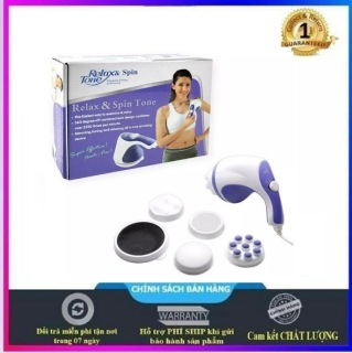 Máy massage cầm tay đa năng 5 đầu massage tiện lợi, máy massage cầm tay đánh tan mỡ bụng giảm đau nhức nhanh chóng hiệu quả - BẢO HÀNH 1 ĐỔI 1 thumbnail